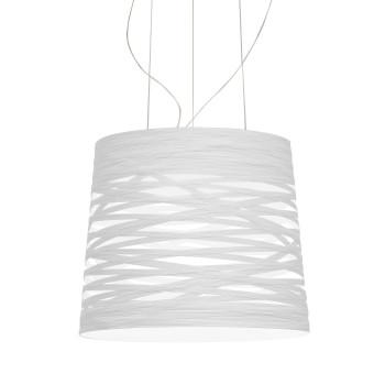 Foscarini Tress Grande Sospensione LED, weiß, dimmbar, mit Kabelsonderlänge max. 10 m