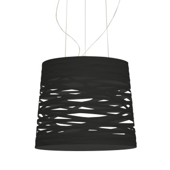 Foscarini Tress Grande Sospensione LED, schwarz, dimmbar, mit Kabelsonderlänge max. 10 m