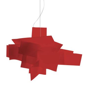 Foscarini Big Bang Sospensione LED, rot, dimmbar, Sonderkabellänge 10 m