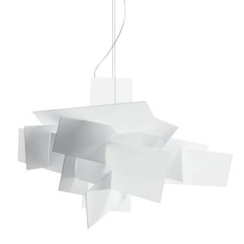 Foscarini Big Bang Sospensione LED, weiß, dimmbar, Sonderkabellänge 10 m