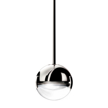 Cini & Nils Convivio new LED Sopratavolo, chrom, Linse transparent