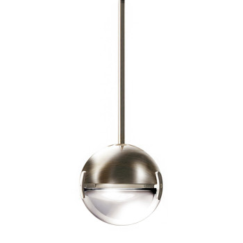 Cini & Nils Convivio new LED Sopratavolo, Nickel satiniert, Glas transparent