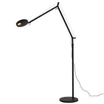 Artemide Demetra Lettura LED, schwarz matt, 3000K, mit Anwesenheitssensor