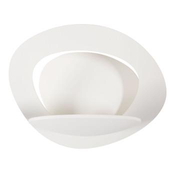 Artemide Pirce Micro Parete LED, Struktur weiß matt, Lichtfarbe 3.000 Kelvin