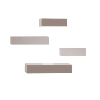 Vibia Set 7752 Wandleuchte, Nerzfarben matt (beige/grau)