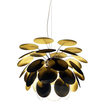 Marset Discocó 68, außen schwarz / innen goldfarben