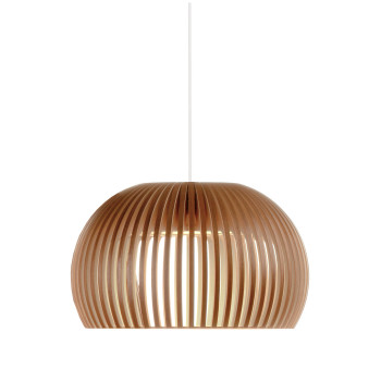Secto Atto 5000 Pendant Light, birch with waxed walnut veneer