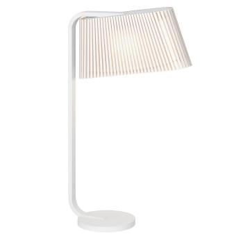Secto Owalo 7020 Lampe de Table, bouleau stratifié blanc