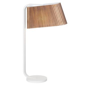 Secto Owalo 7020 Lampe de Table, bouleau plaqué de noyer