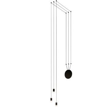 Vibia Wireflow Free-Form mit Glasdiffusor, 3 LEDs (0350)