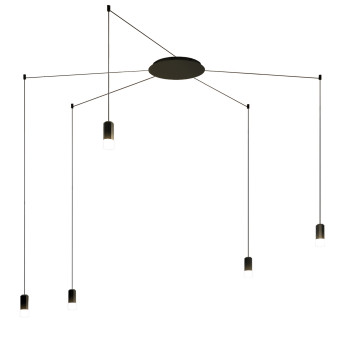 Vibia Wireflow Free-Form mit Glasdiffusor, 5 LEDs (0353)