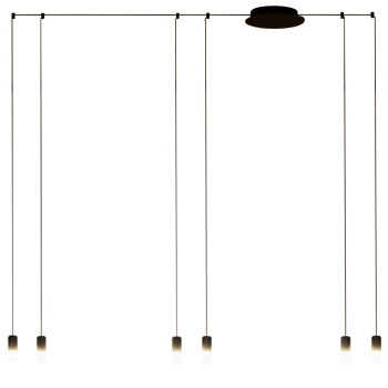 Vibia Wireflow Free-Form mit Glasdiffusor, 6 LEDs (0355)