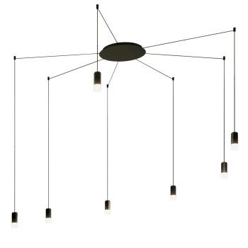Vibia Wireflow Free-Form mit Glasdiffusor, 7 LEDs (0356)