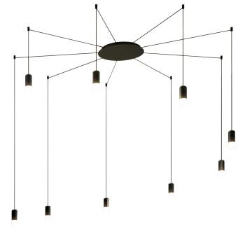 Vibia Wireflow Free-Form mit Glasdiffusor, 9 LEDs (0360)