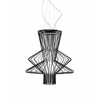 Foscarini Allegro Ritmico Sospensione LED, schwarz, mit Kabelsonderlänge max. 10 m