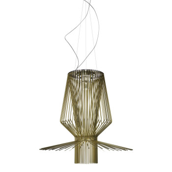 Foscarini Allegro Assai Sospensione LED, gold-coloured, with special cable length max. 10 m