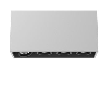 Flos Compass Box Small 4L LED, Aluminium eloxiert / flood 59°