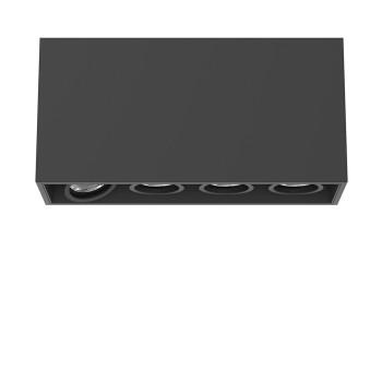 Flos Compass Box Small 4L LED, schwarz / flood 59°