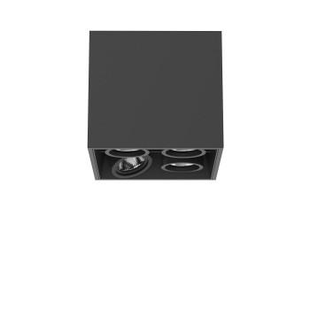 Flos Compass Box Small 4L Square LED, schwarz / flood 59°