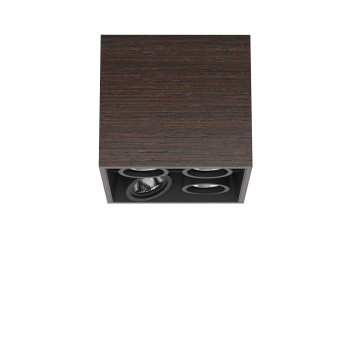 Flos Compass Box Small 4L Square LED, wenge / flood 59°