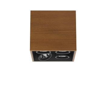 Flos Compass Box Small 4L Square LED, Teak / flood 59°
