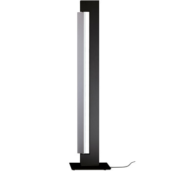 Nemo Ara Floor LED, Struktur anthrazit, Reflektor Alu poliert