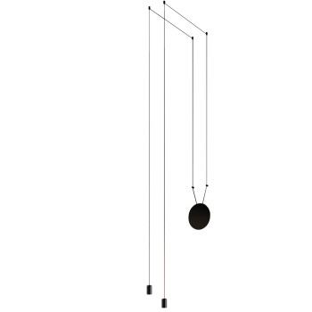 Vibia Wireflow Free-Form ohne Glasdiffusor, 2 LEDs (0362)