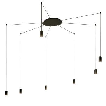 Vibia Wireflow Free-Form ohne Glasdiffusor, 7 LEDs (0367)