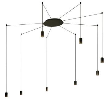 Vibia Wireflow Free-Form ohne Glasdiffusor, 8 LEDs (0368)