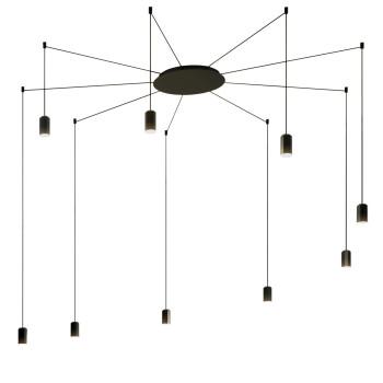 Vibia Wireflow Free-Form ohne Glasdiffusor, 9 LEDs (0369)
