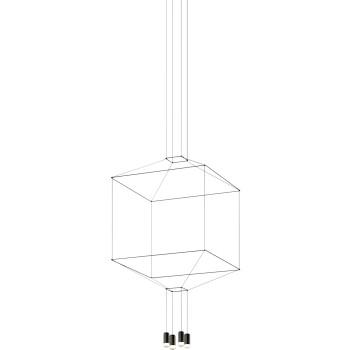 Vibia Wireflow 4 LEDs, Breite 80 cm (0310)