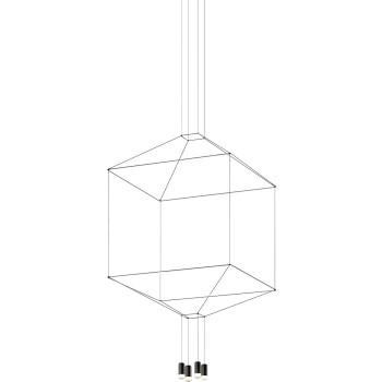 Vibia Wireflow 4 LEDs, Breite 100 cm (0309)