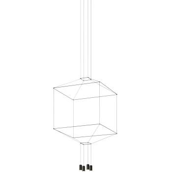 Vibia Wireflow 4 LEDs, Breite 80 cm, ohne Glasdiffusor (0410)
