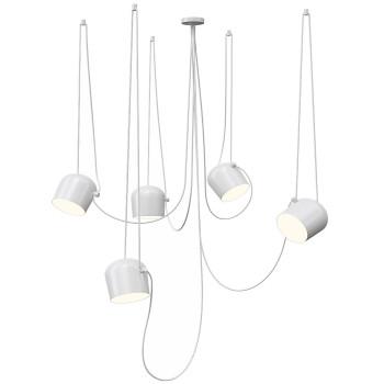 Flos Aim 5 Mixed Sospensione LED, weiß
