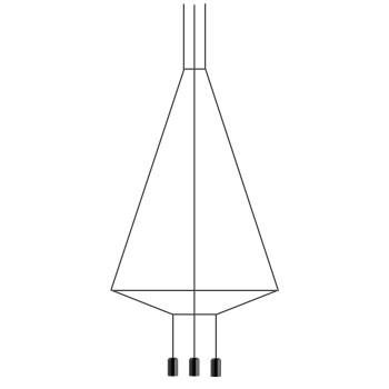 Vibia Wireflow 6 LEDs, Breite 110 cm, ohne Glasdiffusor (0404)