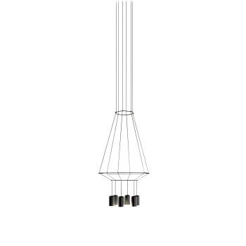Vibia Wireflow 6 LEDs, Breite 40 cm, ohne Glasdiffusor (0408)