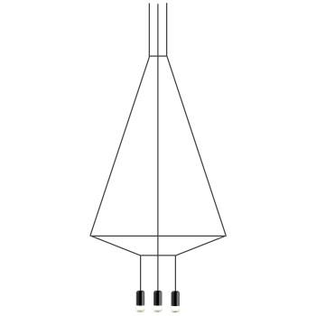 Vibia Wireflow 6 LEDs, Breite 110 cm (0304)