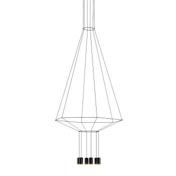 Vibia Wireflow 6 LEDs, Breite 90 cm (0305)