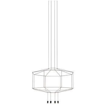Vibia Wireflow 8 LEDs, Durchmesser 150 cm, ohne Glasdiffusor (0399)