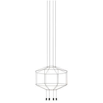 Vibia Wireflow 8 LEDs, Durchmesser 120 cm, ohne Glasdiffusor (0400)