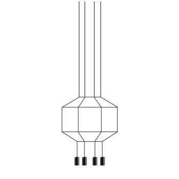 Vibia Wireflow 8 LEDs, Durchmesser 70 cm, ohne Glasdiffusor (0402)