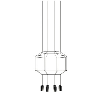 Vibia Wireflow 8 LEDs, Durchmesser 55 cm, ohne Glasdiffusor (0403)
