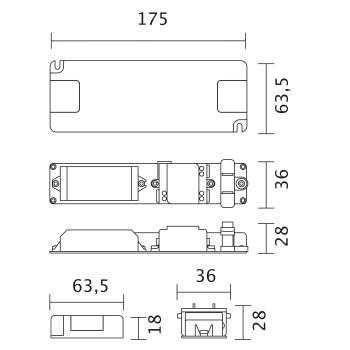 Nimbus Light Control Steuereinheit, Steuereinheit mit Konverter, 30W