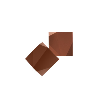 Vibia Origami 4504 Wandleuchte, Terra Dark (rot)