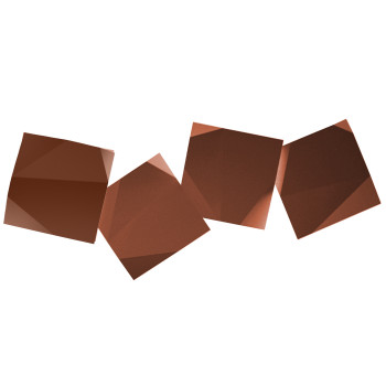 Vibia Origami 4508 Wandleuchte, Terra Dark (rot)