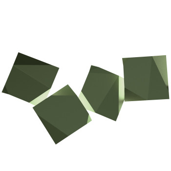 Vibia Origami 4508 Wandleuchte, grün