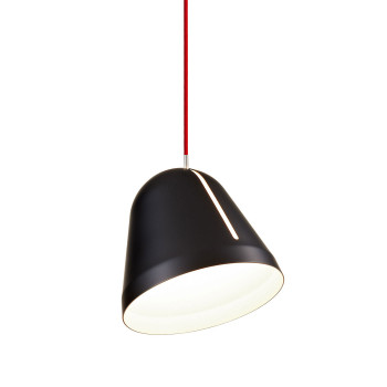 Nyta Tilt S schwarz 5 m Pendelleuchte, Kabel rot