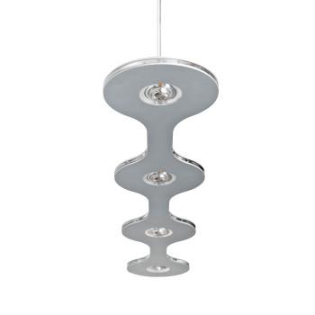 Lumen Center Italia Flat Suspension, version 04 avec 4 lampes en enfilade