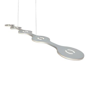 Lumen Center Italia Flat Suspension, version 05 avec 5 lampes en enfilade