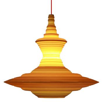 Innermost Stupa 56 Suspension, jaune